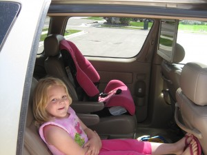 Audrey and the new Toyota Sienna
