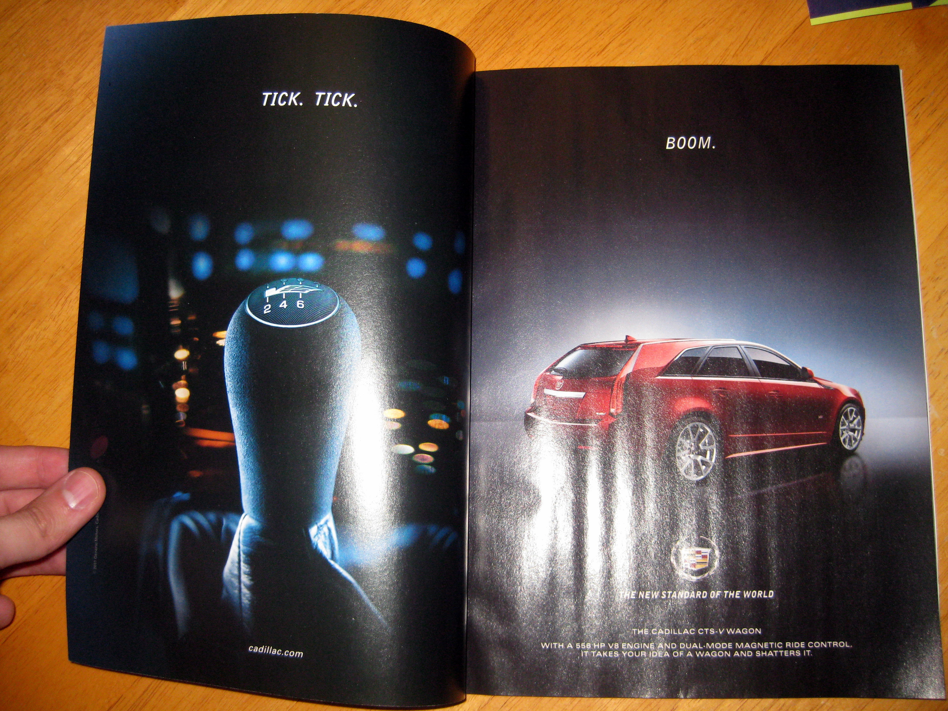 The inside front cover and first page - both ads.