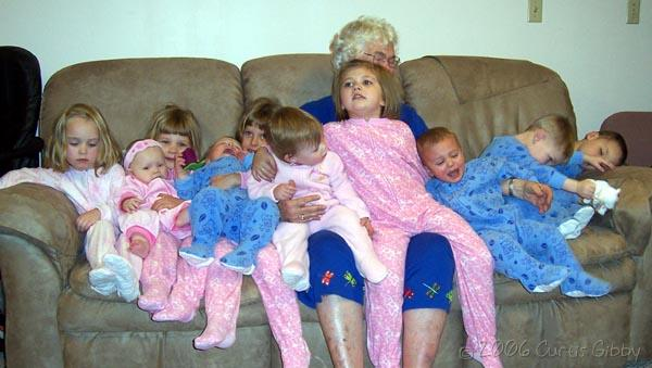 Wanda Slayton and Her Great-grandchildren, January 2006