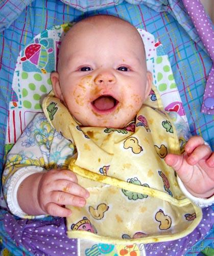 Messy Baby - Audrey Eating Green Beans