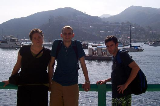 Cruise - Posing on Catalina Island in front of the city of Avalon