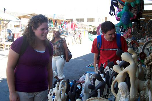 Cruise - Sarah and Brad shop in Ensenada Mexico