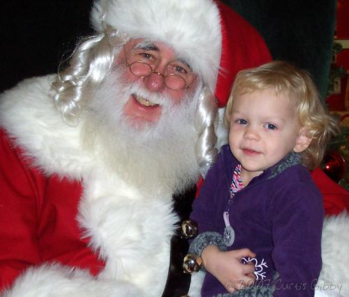 Audrey visits Santa Claus at the mall (2007)