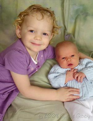 Audrey and Nathan, February 2008
