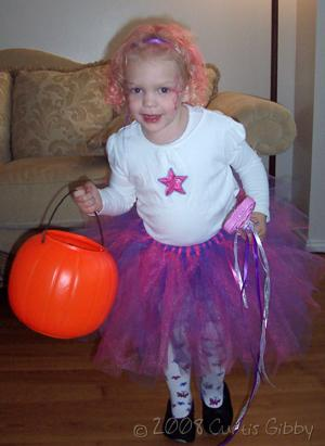 Halloween 2008 - Audrey dressed as a dancing princess