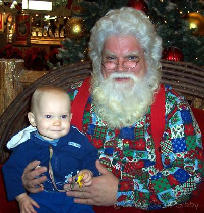Nathan visits Santa Claus at the mall (2008)