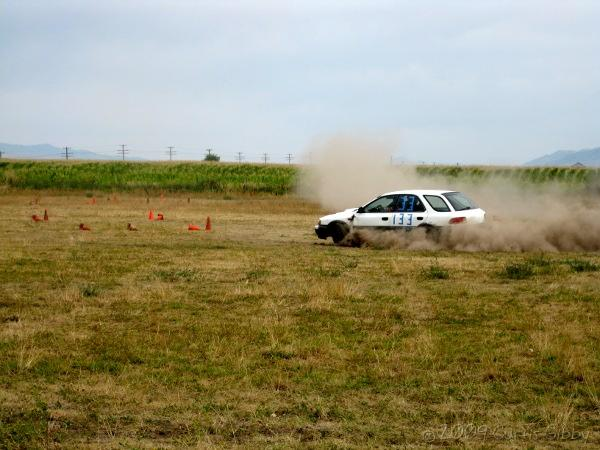 Gibby Campout 2009 - Curtis in the Rally car 1