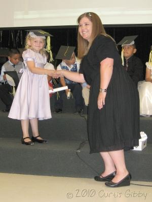 Audrey graduating from preschool