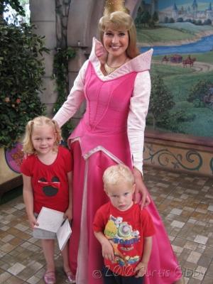 Disneyland 2010 - Audrey and Nathan with Princess Aurora