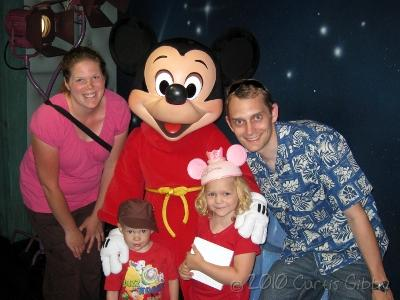 Disneyland 2010 - The Gibby Family with Mickey Mouse