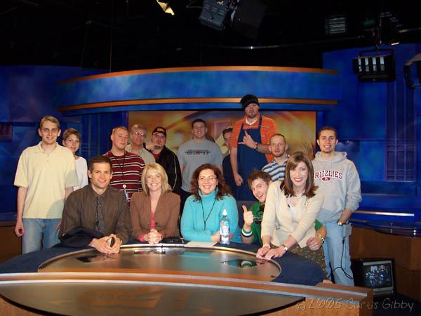 The cast and crew of ABC4 AM Express