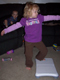 View - Audrey does yoga with the Wii Fit (2)