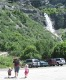View - Sarah and the kids at Bridal Veil Falls