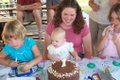 View - Audrey's First Birthday - Audrey and others with the birthday cake