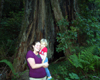 View - 2008 California Vacation - Sarah and Audrey in Redwood National Park