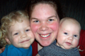 Sarah con Audrey y Nathan (Abril 2008)