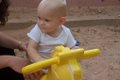 View - Audrey plays on the playground on our vacation in St. George, Utah