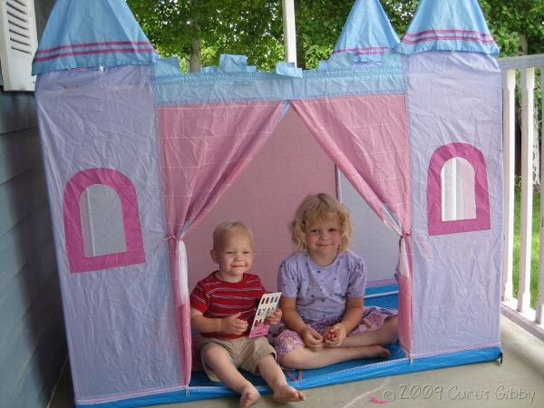 Audrey and Nathan in the play castle