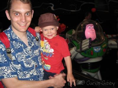 Disneyland 2010 - Curtis and Nathan with Buzz Lightyear