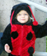 View - Halloween 2008 - Audrey dressed as a ladybug