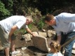 View - Gibby Cabin - Dad and Scott put rocks into place