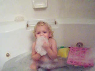 View - Audrey sends holiday greetings from the bathtub (video)