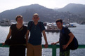 View - Cruise - Posing on Catalina Island in front of the city of Avalon