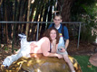 View - Cruise - Curtis and Sarah sit on a hippo statue at the San Diego Zoo
