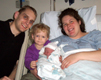 View - Labor and Delivery - The new and improved Curtis Gibby family (Curtis, Audrey, Nathan and Sarah)