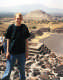 View - Teotihuacán Mexico - Me standing on the Pyramid of the Moon, with the Pyramid of the Sun in the background