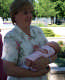 View - Grandma Shauna holds Audrey at 3 weeks old